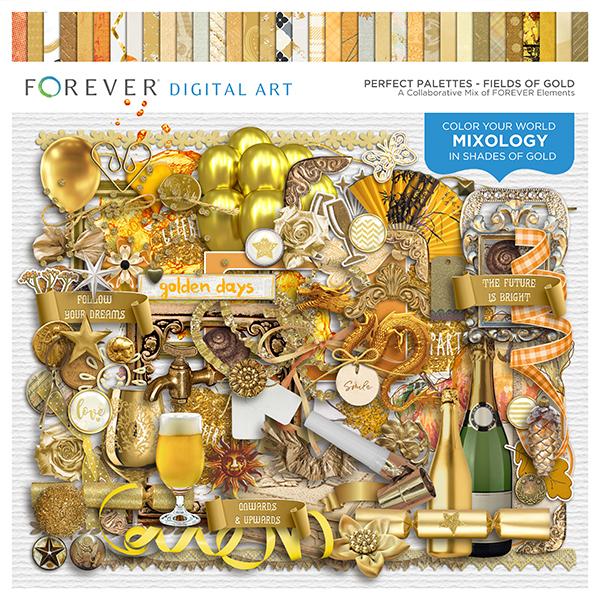 Perfect Palettes - Fields of Gold Digital Art - Digital Scrapbooking Kits