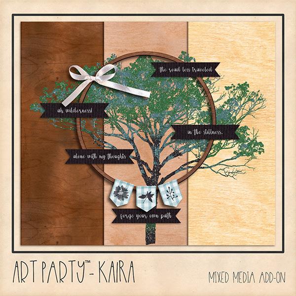 Kaira Mixed Media Add-On Digital Art - Digital Scrapbooking Kits