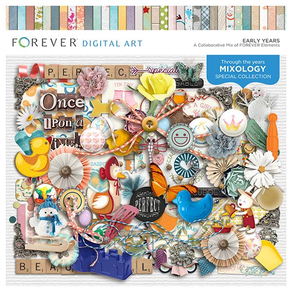 Early Years Digital Art - Digital Scrapbooking Kits