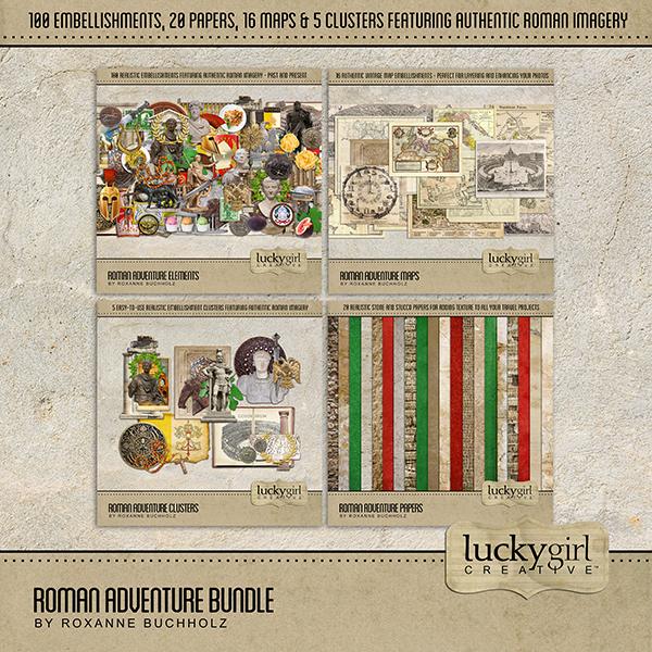 Roman Adventure Bundle Digital Art - Digital Scrapbooking Kits
