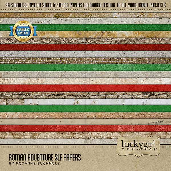 Roman Adventure SLF Papers Digital Art - Digital Scrapbooking Kits