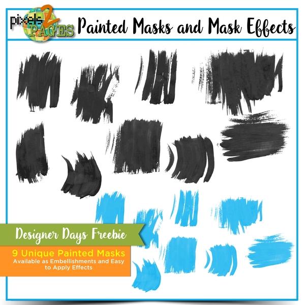 Painted Masks and Mask Effects Designer Days Freebie Digital Art - Digital Scrapbooking Kits