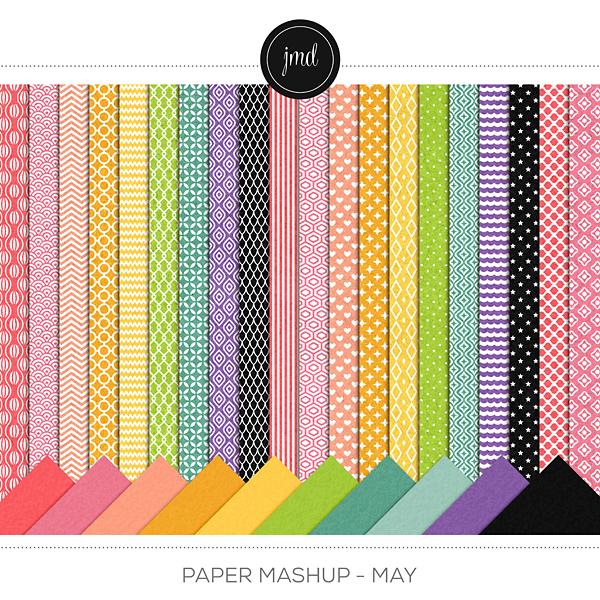 Paper Mashup - May Digital Art - Digital Scrapbooking Kits