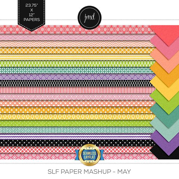 SLF Paper Mashup - May Digital Art - Digital Scrapbooking Kits