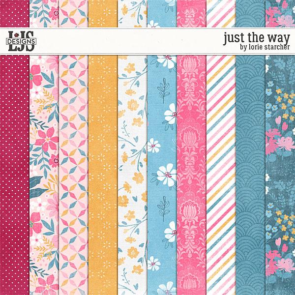 Just The Way Papers Digital Art - Digital Scrapbooking Kits