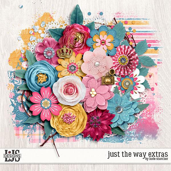 Just The Way Extras Digital Art - Digital Scrapbooking Kits
