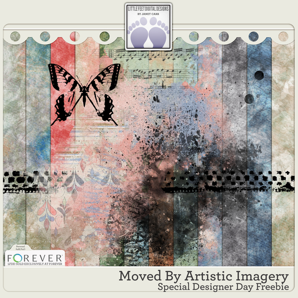 Moved By Artistic Imagery Special Designer Day Freebie 2021 Digital Art - Digital Scrapbooking Kits