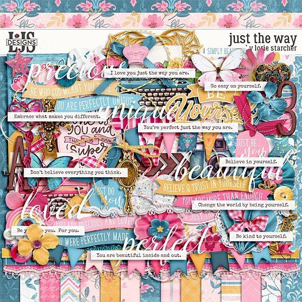 Just The Way Digital Art - Digital Scrapbooking Kits