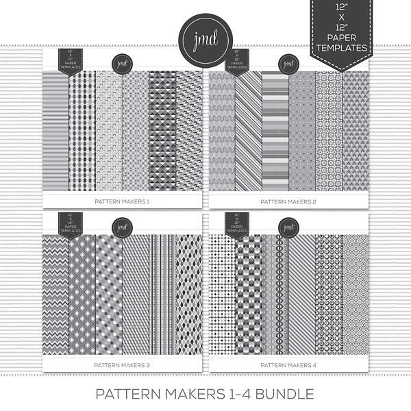 Pattern Makers 1-4 Bundle Digital Art - Digital Scrapbooking Kits