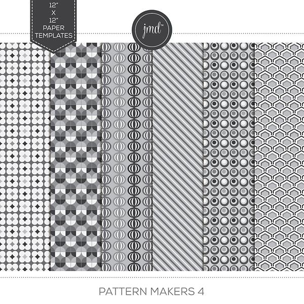 Pattern Makers 4 Digital Art - Digital Scrapbooking Kits