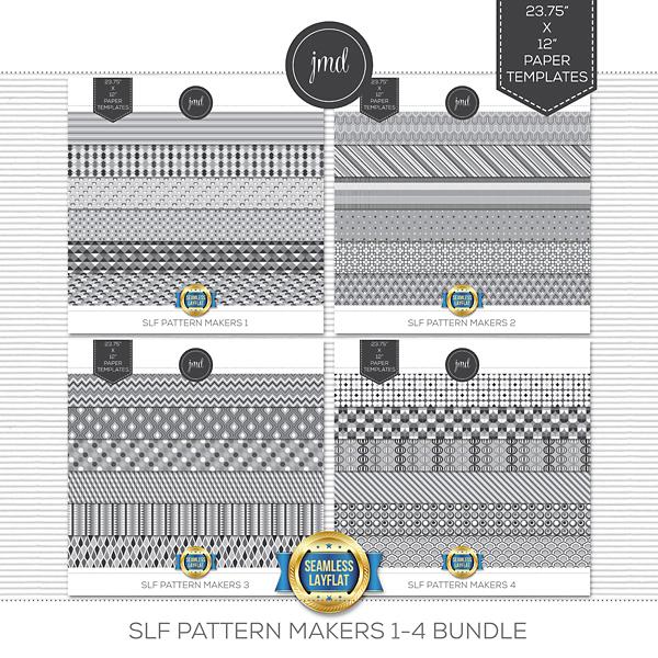 SLF Pattern Makers 1-4 Bundle Digital Art - Digital Scrapbooking Kits