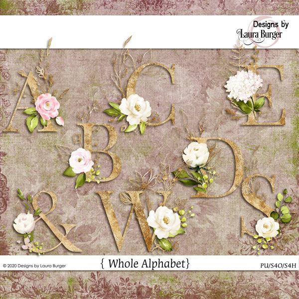 One Kind Word Alphabet Digital Art - Digital Scrapbooking Kits