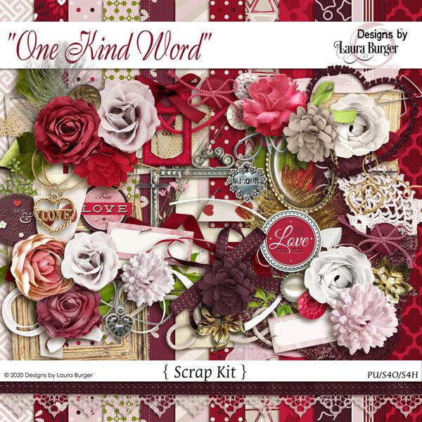 One Kind Word Scrap Kit Digital Art - Digital Scrapbooking Kits