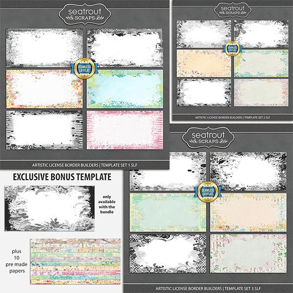 Artistic License Border Builders Bonus Bundle 2 - SLF Digital Art - Digital Scrapbooking Kits