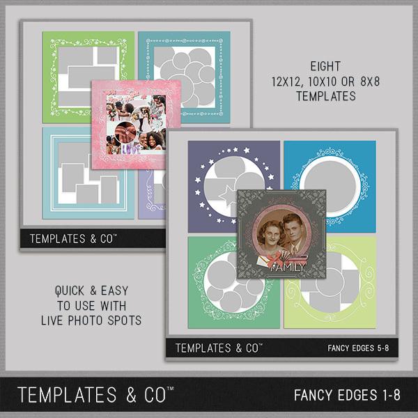 Fancy Edges 1-8 Digital Art - Digital Scrapbooking Kits
