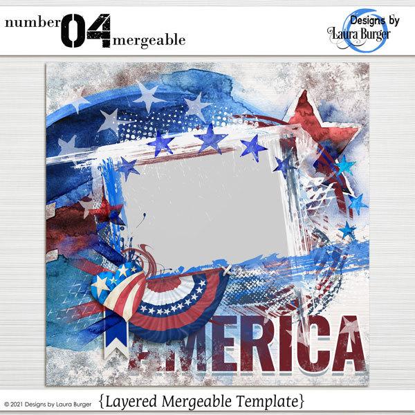 Number 04 Mergeable Digital Art - Digital Scrapbooking Kits