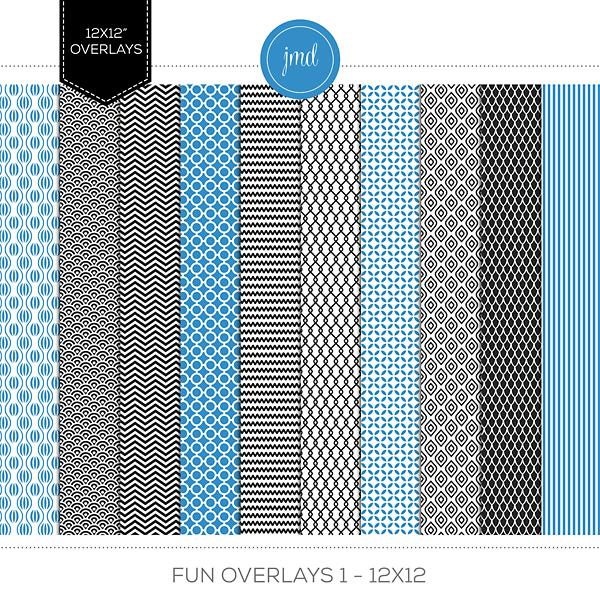 Fun Overlays 1 - 12x12 Digital Art - Digital Scrapbooking Kits