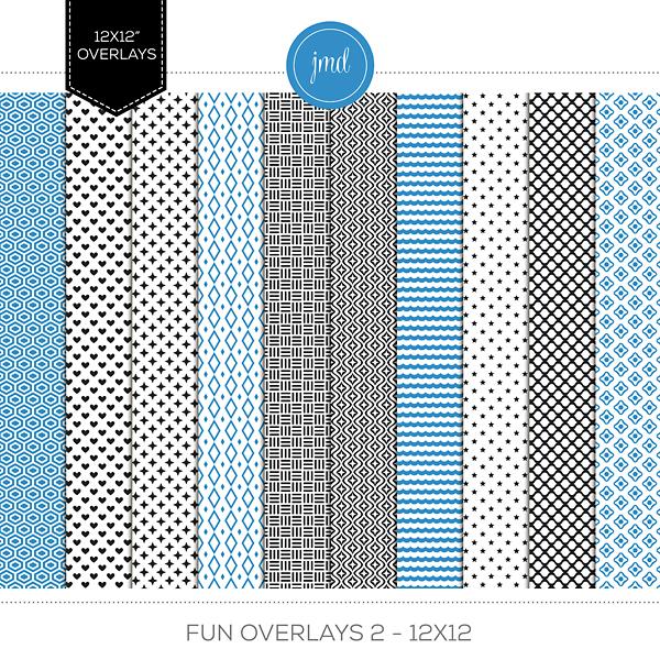 Fun Overlays 2 - 12x12 Digital Art - Digital Scrapbooking Kits