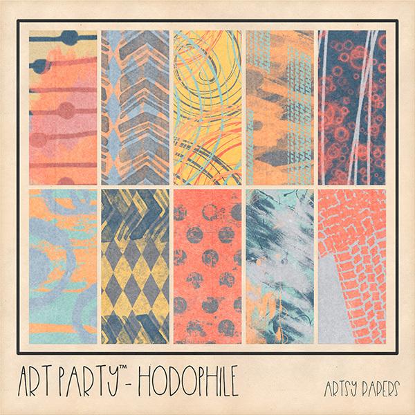 Hodophile Artsy Papers Digital Art - Digital Scrapbooking Kits