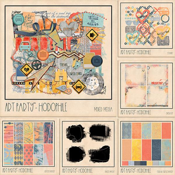 Hodophile Complete Collection Digital Art - Digital Scrapbooking Kits