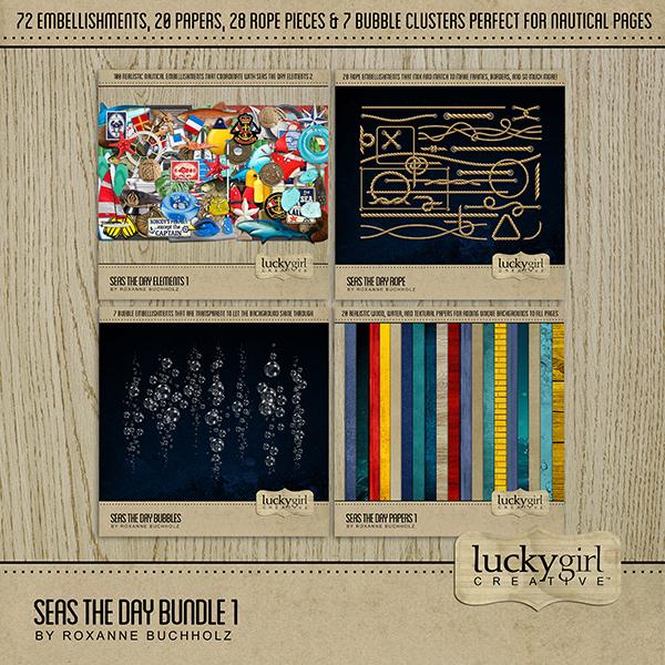 Seas the Day Bundle 1 Digital Art - Digital Scrapbooking Kits