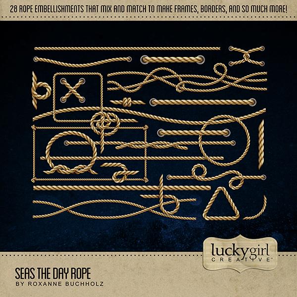Seas the Day Rope Digital Art - Digital Scrapbooking Kits