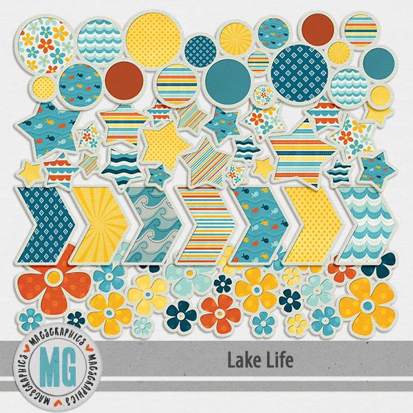 Lake Life Borders Digital Art - Digital Scrapbooking Kits
