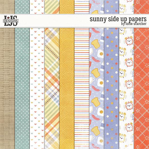 Sunny Side Up Papers Digital Art - Digital Scrapbooking Kits