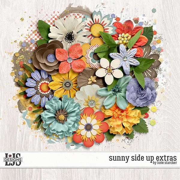 Sunny Side Up Extras Digital Art - Digital Scrapbooking Kits