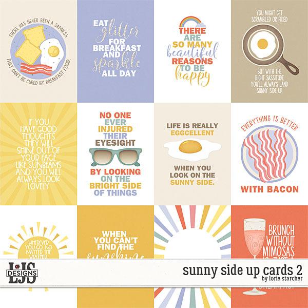 Sunny Side Up Cards 2 Digital Art - Digital Scrapbooking Kits