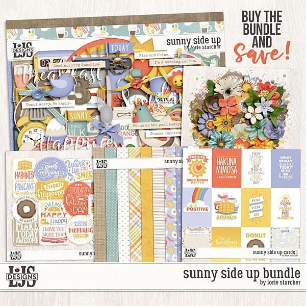 Sunny Side Up Bundle Digital Art - Digital Scrapbooking Kits