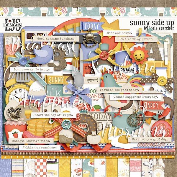 Sunny Side Up Digital Art - Digital Scrapbooking Kits