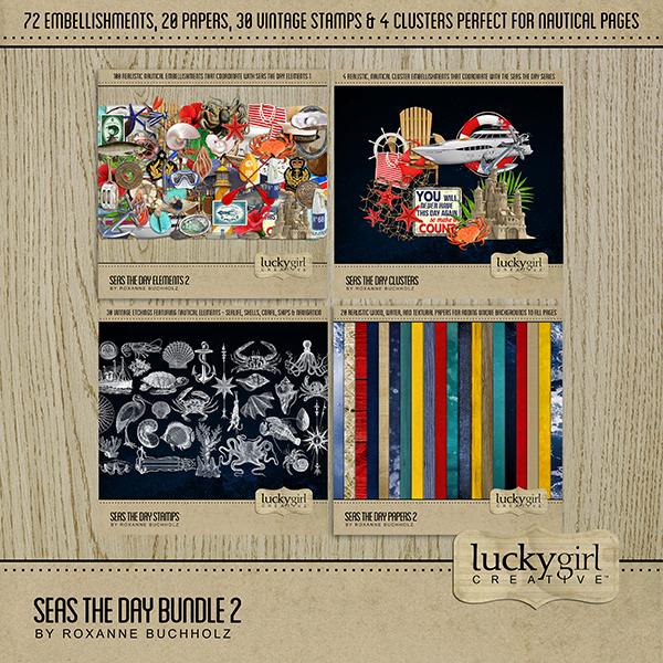 Seas the Day Bundle 2 Digital Art - Digital Scrapbooking Kits