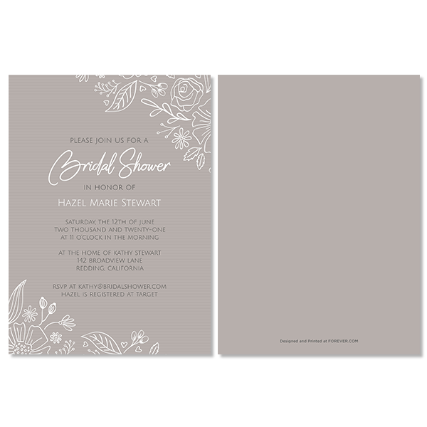 Always & Forever Bridal Shower Invitation Card