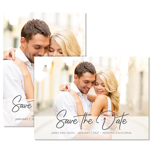 Always & Forever White Save the Date Card Card