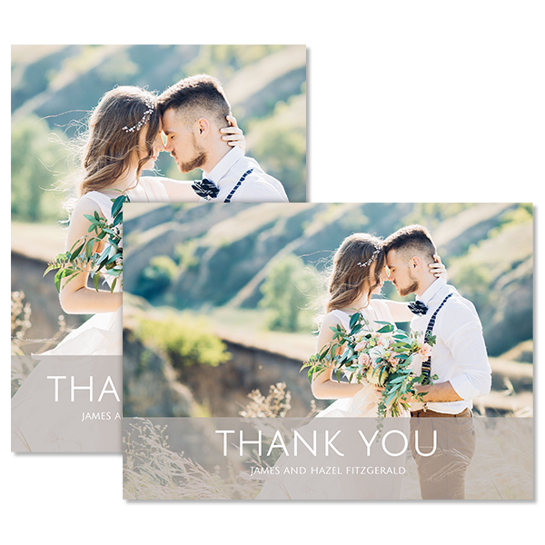 Always & Forever Thank You Card Card