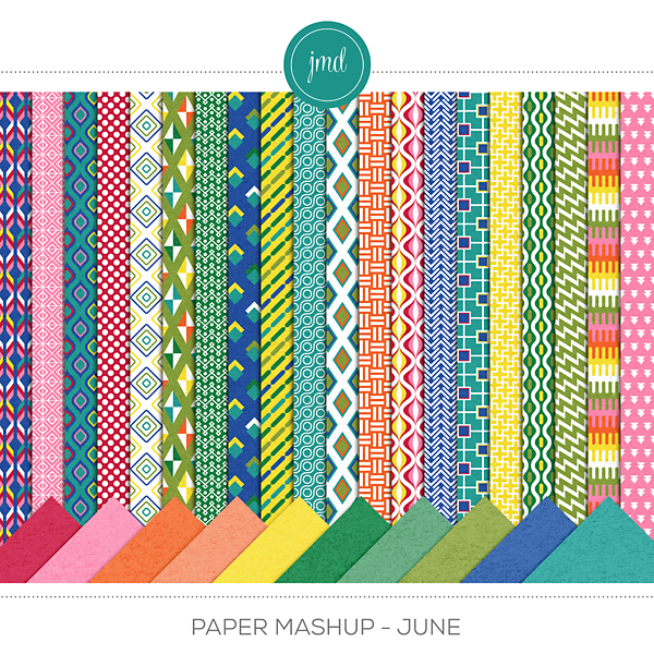 Paper Mashup - June Digital Art - Digital Scrapbooking Kits