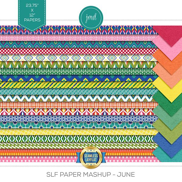SLF Paper Mashup - June Digital Art - Digital Scrapbooking Kits