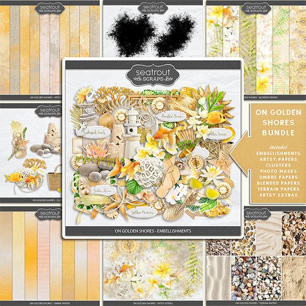 On Golden Shores - Bundle Digital Art - Digital Scrapbooking Kits