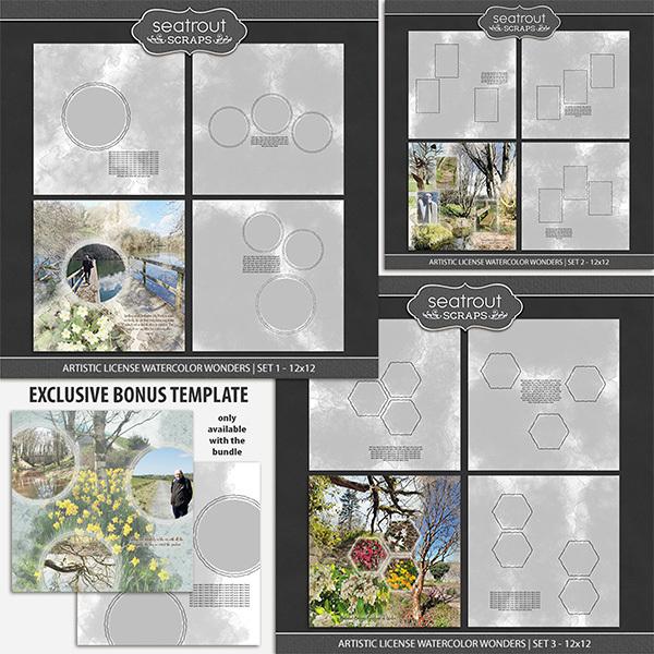 Artistic License Watercolor Wonders Bonus Bundle 1 - 12x12