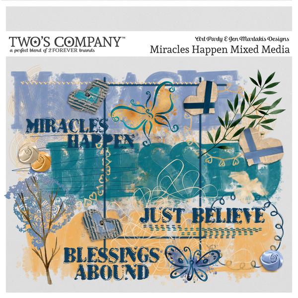 Miracles Happen Mixed Media Digital Art - Digital Scrapbooking Kits