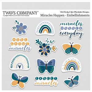 Miracles Happen Embellishments Digital Art - Digital Scrapbooking Kits