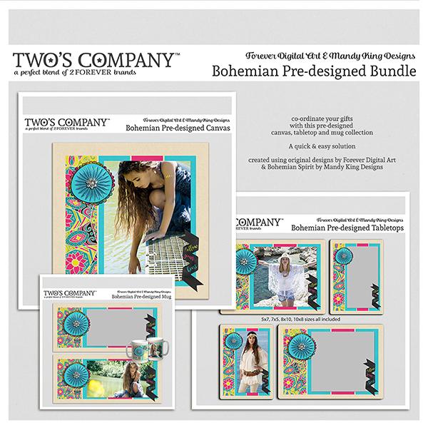 Bohemian Pre-designed Bundle Digital Art - Digital Scrapbooking Kits