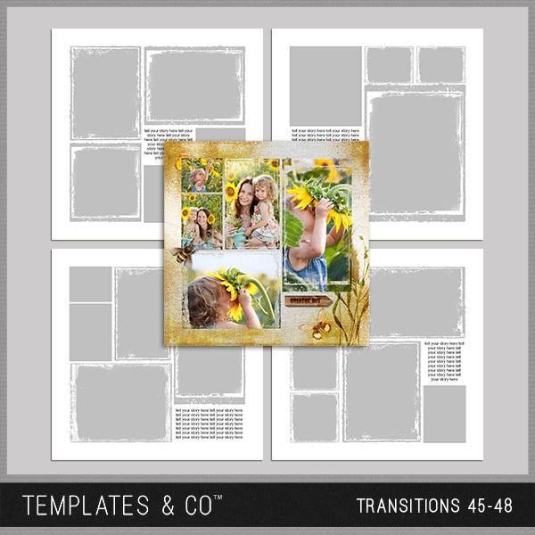 Transitions 45-48 Digital Art - Digital Scrapbooking Kits