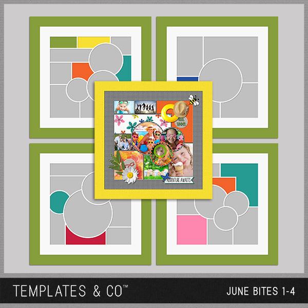 June Bites Digital Art - Digital Scrapbooking Kits