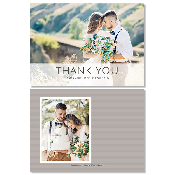 Always & Forever White Thank You Card