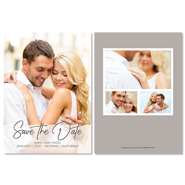 Always & Forever White Save the Date Card