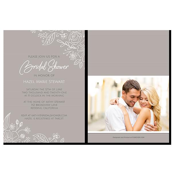 Always & Forever Bridal Shower Invitation