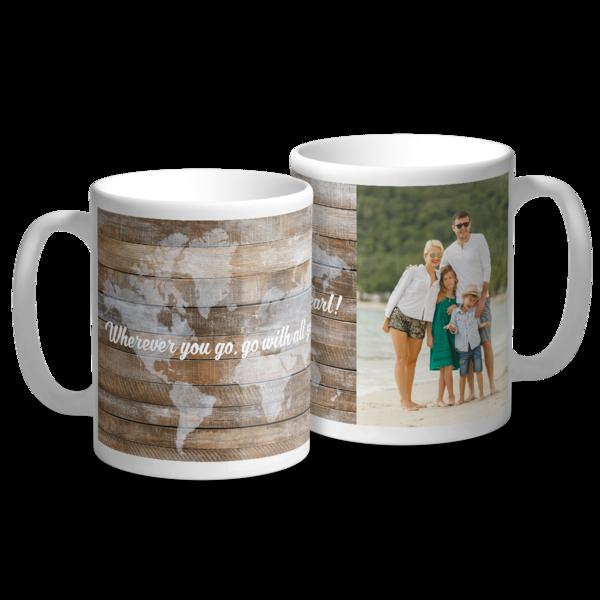 Wherever You Go with Photo Mug Mug