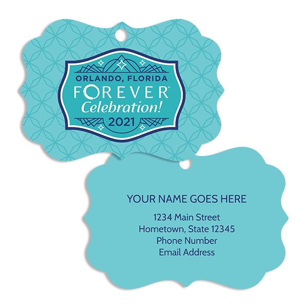 FOREVER Celebration! 2021 Luggage Tag Ornament